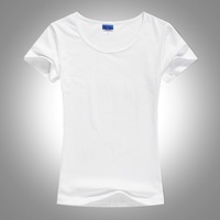 New Arrival Women Tee  young and beauty female thin section in spring and Summer T-shirts  solid 19color  and casual fashion Tee