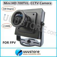 "FPV Camera 1/3"" CMOS 3.6mm 140 Degree Wide Angle Lens High Resolution HD 700TVL Security Mini CCTV Color RC Camera"