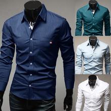 2014 novo primavera marca 4 cores decoração fita vestido casual mens camisas slim caber manga longa camisa social masculina para o homem m-xxl(China (Mainland))