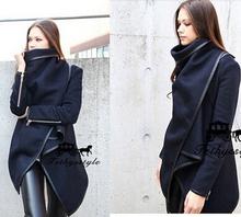 HOT Free Shipping 2014 winter woolen overcoat women fashion trench woolen coat(China (Mainland))
