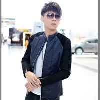 2014 Autumn new Slim Korean leather jackets fashion trends men jacket