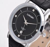 Wholesale Name Brand Longbo Leather Fashion Leisure Men Watch Quartz Watches Military Watches