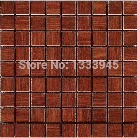 Whole sale!! Vintage mosaic tiles, bathroom floor tiles , Rustic mosaics, Brown porcelain floor tile polished porcelain tile(China (Mainland))