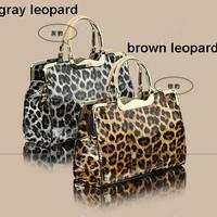 2014 New Fashion Shiny PU Women Leather Handbag Lady Tote Handbag Messenger Bags free shipping