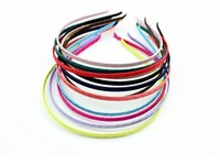 New Wholesale Solid Crumpled Satin Ribbon headband 4mm Metal headbands Fashion Hairbands Girl's Hair Accessory,50pieces/lot