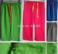 2014 children fleece warm clothing girls sport pants Female baby kids trousers autumn Winter jogging thick clothes sportswear