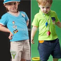 2014 new arrive fashion boys and girls clothing set  children cloth set kids t-shirts+pants suit cotton children clothing set