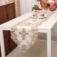 New Design Table Runner Towel Cream-Coloured  Tablecloth Table Cove For Home Wedding Restauran Room Dining room Style NO.577-C