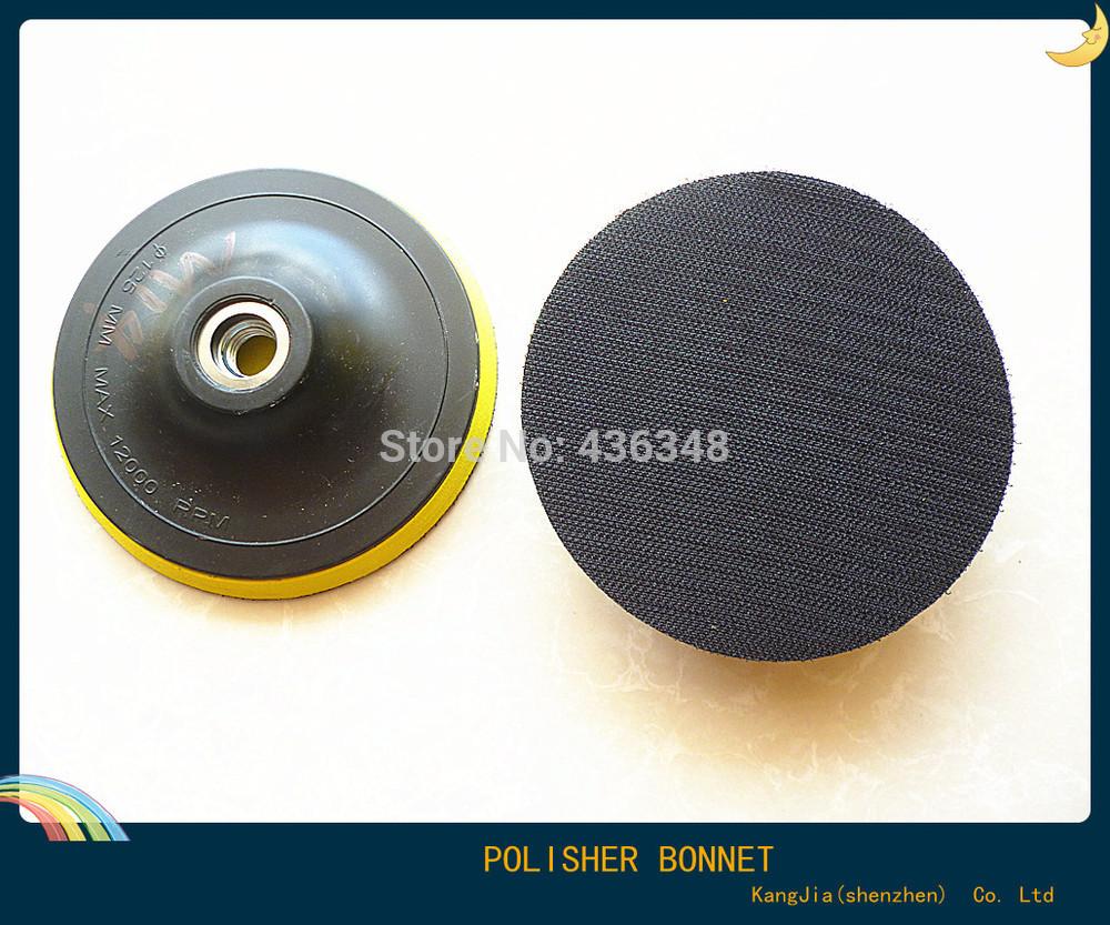 125mm wheel pad flocking adhesive sandpaper sheet tray brushed sponged angle grinder polishing disc disk axle dia m16-m14-m10(China (Mainland))