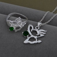 AS535 Trendy wholesale silver Jewelry Sets Ring 481 + Necklace 933 /axpajowa bymakpta