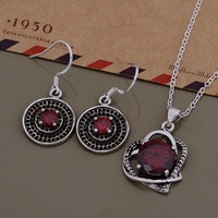 AS552 Trendy wholesale silver Jewelry Sets Earring 684 + Necklace 1000 /aygajpna bzdakqka