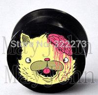 [Min. Order $20]Drop dead kitty screw Plug Tunnel Ear Plug Flesh Tunnel Tunnel Gauges body jewelry MJEPG39009