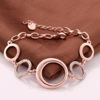 New Arrival Autumn 2014 Brand Luxury Jewelry Round Bracelet Top Quality 18K Rose Gold Plated Bracelet Pulseira VGBC182