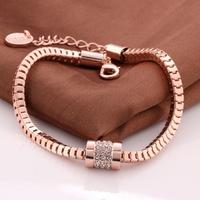 New Arrival Autumn 2014 Brand Name Jewelry Fashion Bracelet Top Quality 18K Rose Gold Plated Bracelet Pulseira Wholesale VGBA194