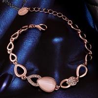 VGBC187 Brand Name Luxury Jewelry Waterdrop Opal Bracelet Top Quality 18K Rose Gold Plated Bracelet Pulseiras