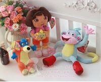 "35cm 13.8"" 3pcs a set dora the explorer Dora& 10""monkey &10""Fox plush toy adventurous dora aventureira stuffed toys for children"