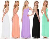 Fashion high quality 2014 shoulder strap V-neck long design chiffon one-piece dress ebay
