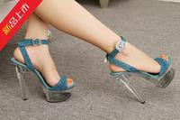 Sexy high-heeled shoes t ruslana korshunova plus size sandals 1508