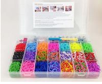2200 pcs Rubber loom bands kit Free Shipping DIY Colorful Rubber loom bands kit Charm Bracelets