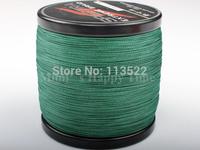 Free shipping! PE Dyneema Braided spectra Green 1000M braided Fishing Line 15LB 0.16mm high quality 4 strands fishing line