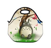 Fasion Cute Totoro Zipper Lunch Bag Neoprene Lunch Box for Kids Children Girls Free Shipping