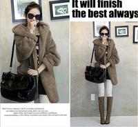 New Woman Coats 2014 Winter Slim Coat Women Overcoat Casaco Feminino Outerwear Cotton-padded Jacket Female Black Clothing