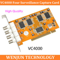 Free Shipping Spot Mortimer VC4000 VC4000E four surveillance capture card 7134 chip supports SDK to develop parking / medical