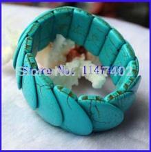Free Shipping Heart Shape Turquoise Bangle Bridge Shape Stretch Bangle & Bracelet Wholesale 2014 New Arrival Top Quality(China (Mainland))
