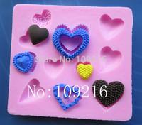 Free shipping !!!1pcs Mini New Style Small Love (047) Silicone Handmade Fondant/Cake Decorating DIY Mold
