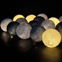 20 ball Classical Bluish Grey cotton ball lamps in Thailand holiday lights Decorate the sitting room Available, CE/GS/SAA/UL