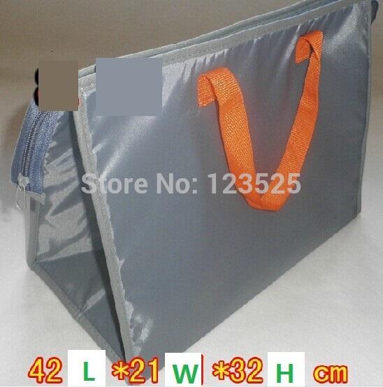 Melhor Quanlity um pedaço bolsa térmica 42x21x32cm thermo Duplas Cooler Bag saco miúdos almoço ao ar livre recipiente de alimento saco do bebê mãe(China (Mainland))
