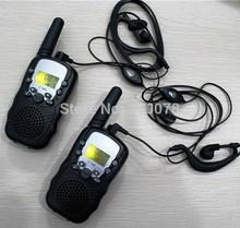 2014 New radio walkie talkie pair T388 PMR FRS radios VOX hand free talkie radios earphones