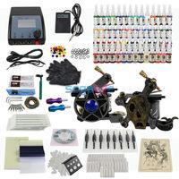 EU SHIP Complete Tattoo Kit Machine Gun & 54Colors Tattoo Ink/Pigment, Induction Tattoo Machine for Beginner T016