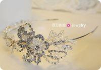 Smart crystal bride handmade crystal hair accessory hair bands wedding dress formal dress accessories