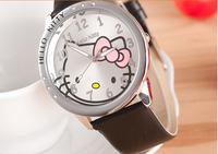 1 PCS Rhinestone Hello Kitty Steel Watches For Women Girls Students Lady Women