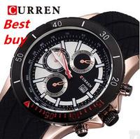 Luxury Brand CURREN Casual Watch Men Silicone Waterproof male Clock+Calendar Original Japan Quartz Wrist watch Relogio Masculino