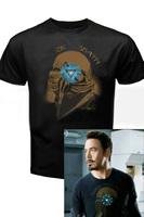 free shipping The Avengers Black Sabbath Iron Man Tony Stark T-Shirt Tee NEW cosplay Costume  from The Avengers