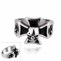 MR011 Retro Vintage Big Punk Cross Finger Rings 316L Stainless Steel Items New 2014 Men Jewelry Accessories Wholesale & Retail