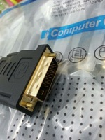 Free Shipping Converter Adapter DVI Male 24+1 To HDMI male Connector 10pc