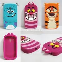 3D Cartoon Cute nMonsters Inc. Sulley James P. Sulliva Tigger Cheshire Cat Silicon Case Cover Bags For Galaxy S3 mini i8190