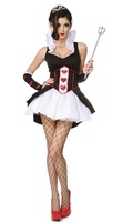 Queen of Hearts Fantasy Costumes Set Sexy Halloween Clothes Set for Women Ladies' Fairy tale Alice in the wonderland Costumes