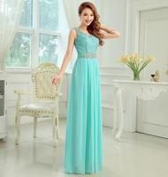Fashionable Sexy V-Neck Red Long evening dress Blue prom dresses 2014 Violet vestidos de festa vestido longo party dresses E104