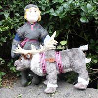 2PCS/LOT,Stuffed Frozen Plush Toys Kristoff Sven Reindeer,Children Christmas Gifts,Free Drop Shipping