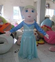 Adult Size Fine Elsa princess Frozen Mascot Costume Snowman Character Costume