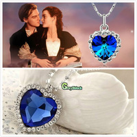 2014 New Fashion Classic Titanic The Heart Of The Ocean Sapphire Pendant Necklace For Women Jewelry Freeshipping