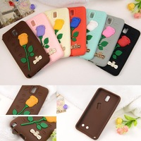 7 Color Exquisite Elegant Fashion Engraved Phone Bags 3D Rose Flower Soft Silicon Cases Cover For Sumsang Galaxy Note3 III N9000