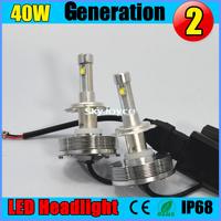 40W USA imported CREE-XM-L2  led auto headlights car H8 H9 H10 H11 9005 9006 H3 H1 LED car headlight headlamp bulbs 4800LM