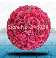 New 30cm Elegant Silk Rose Flowers Kissing Ball of Leaves for Wedding Bridal Flower Decor