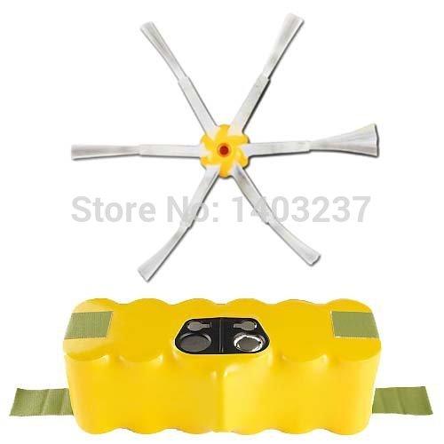 For iRobot Roomba 510 - AeroVac Vacuum Cleaner Accessory Kit Includes Battery 3500mAh 14.4V Side Brush(China (Mainland))