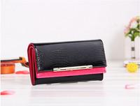 New Wallets Crocodile Pattern 3D Women Wallets Genuine Leather European Fashion Double Design Long Wallet Brand Quality C039